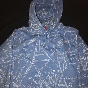 Supreme Gonz embroidered map hoodie